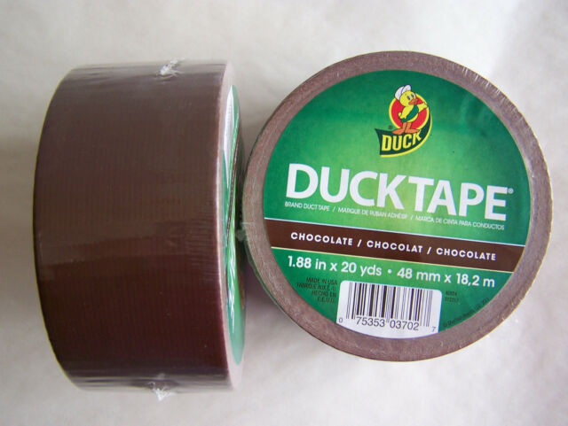 Chocolate Brown Duck Brand Duct Tape 1.88 inch x 20 yds Mud Puddle