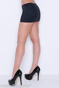 Mini Skirt 20-22 Black Stretch Lycra Short Micro Clubwear Party ...