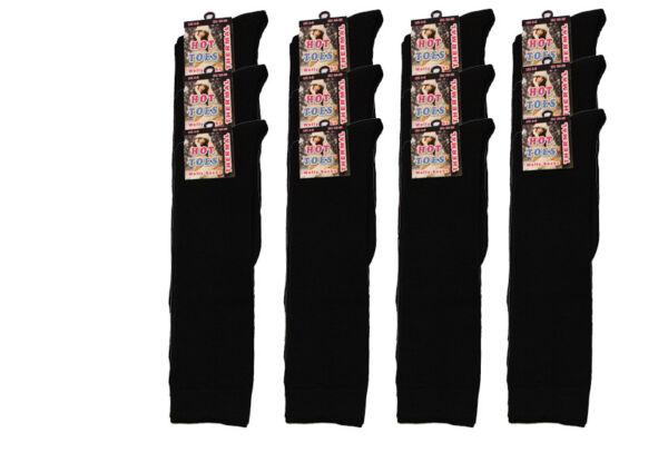 1 Par Mujer Damas Chicas Bota Térmica Negra Welly Medias Lote De Algodón Uk Size 4-6-ver Hemos Ganado Elogios De Los Clientes