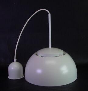 1960ies-Haengelampe-Kuechenlampe-Metall-amp-Glas-Panton-Aera