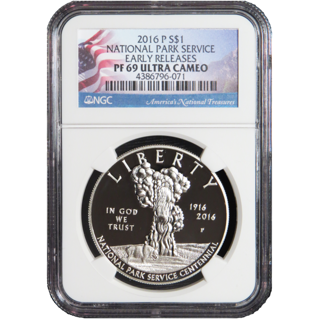 2016 D 50C National Park Service 100th Anniversary MS69