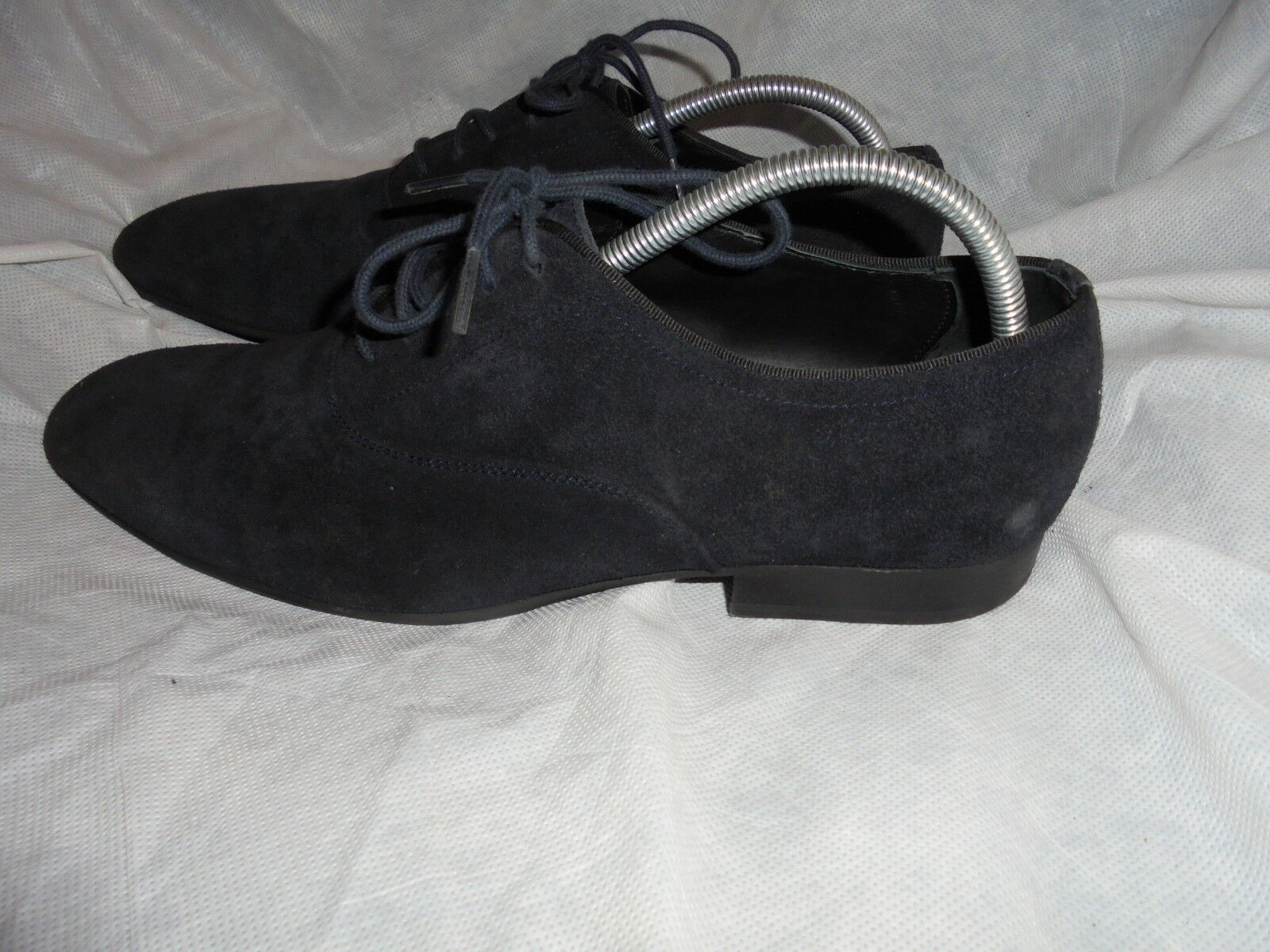ZARA blueE SUEDE LEATHER LACE UP  SHOES SIZE US 11 VGC