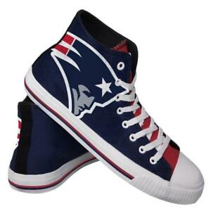 0f23297a Details about New England Patriots NFL Men's High Top Big Logo Canvas Shoes  FREE SHIP
