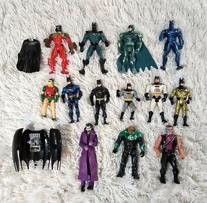 Batman-Vtg-Action-Figures-Lot-Of-15-80s-90s-Joker-Two-face-Green-Lantern-Robin