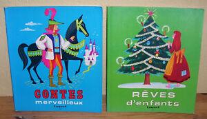Lot-de-2-livres-Contes-merveilleux-et-Reves-d-039-enfants
