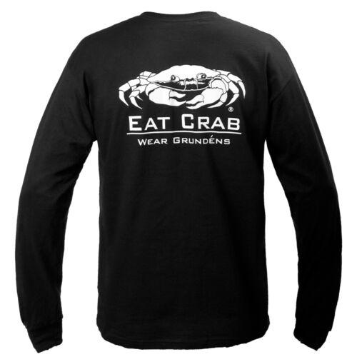 Black Pick Size-Free Ship 25/% Off Grundens Eat Crab Long Sleeve Tee Shirt
