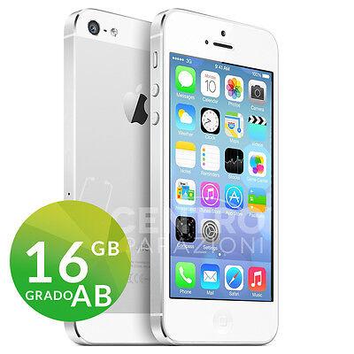 APPLE IPHONE 5 16GB BIANCO SILVER WHITE CON ACCESSORI E GARANZIA + CORRIERE