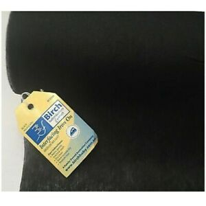 BIRCH Medium Weight Iron-on Interfacing Black - per metre