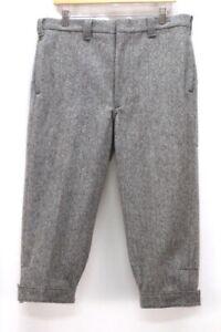 Vintage Herren grau Woolrich Tweed Wolle Schlüpfer USA Riding Crop Hose 34 x 20.5