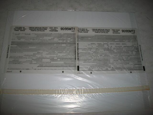 1990 -1995 FORD MEDIUM DUTY TRUCK PARTS CATALOG MICROFICHE