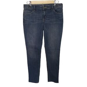 Simply-Vera-Wang-Jeans-Skinny-Mid-Rise-Women-Size-6-Stretch-Blue-Denim-Ankle