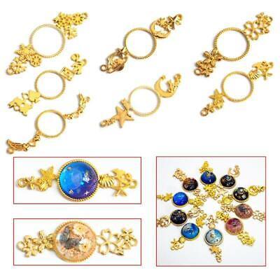 10pcs Star Open Bezel Setting Metal Frame Resin Jewelry Making Pendant Blank BR