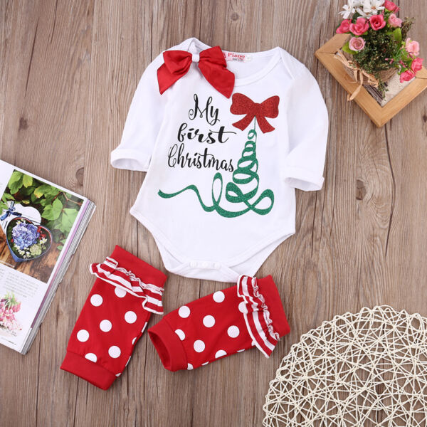 baby girls romper leg warmer outfits christmas gift hover to zoom