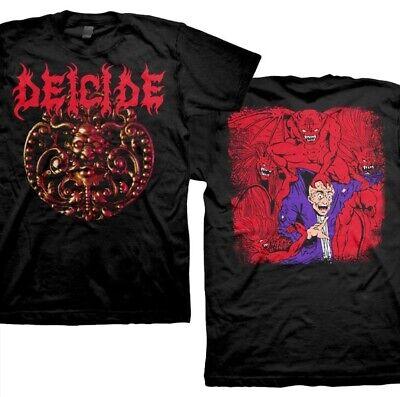 badhabitmerch MED-2XL New Deicide Medallion Double Sided Death Metal Shirt