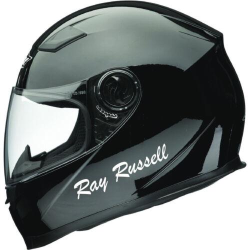 2  Personalised Name Stickers Motorbike Helmet Vinyl Decals TRIUMPH HONDA SUZUKI