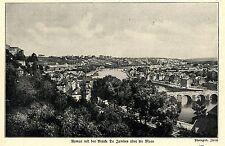 1914 Kampf um Namur * Bruecke De Jambes ueber die Maas *  WW1