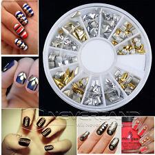 120pcs 3D Acrylic UV Gel Mix Styles Rhinestones Gems Nail Art DIY Decoration Kit