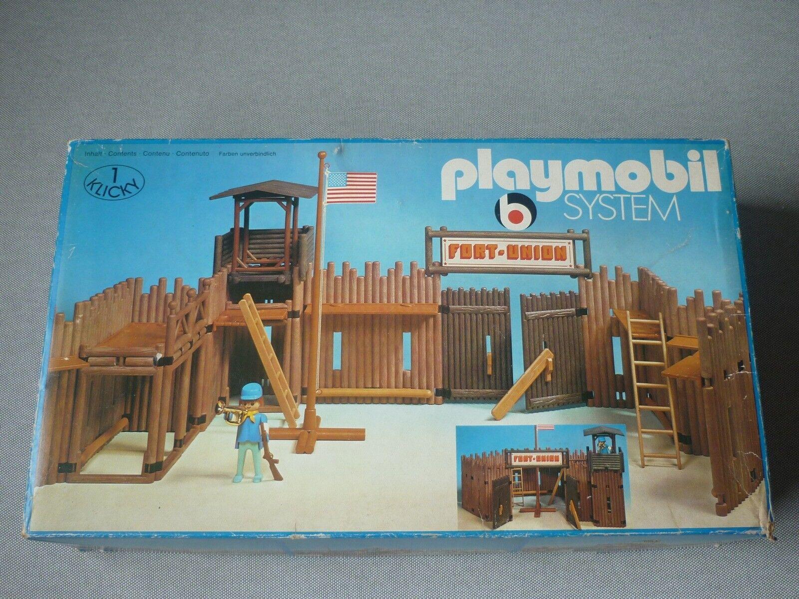 PLAYMOBIL SYSTEM  3420 del 1974 FORT UNION  fino al 60% di sconto