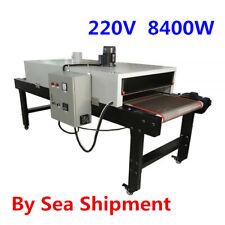 220v 8400w Conveyor Tunnel Dryer 98ft Long X 256 Belt For Screen Printing