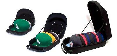 HG Baseball Hat 3 pc Case Protection For Storage Travel BLACK