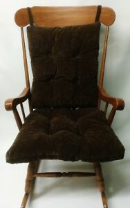 Image Is Loading Brown Designer Over Sized Reversible Rocking Chair Cushion