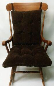 Brown-Rocking-Chair-Glider-Cushion-Set-Over-Sized-Reversible-Nursery-Livingroom