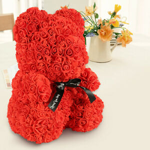 Red-Rose-Flower-Teddy-Bear-16-Box-Gift-For-Wedding-Birthday-Valentine-520