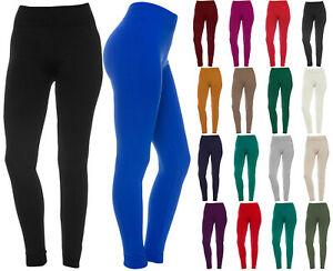 Women-039-s-Fleece-Solid-Colors-Winter-Thick-Warm-Basic-Stretchy-Leggings
