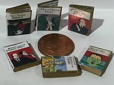 DOLLS HOUSE MINIATURE BOOKS - 1:12th Scale  Jeeves and Wooster x 6 books 1:12th