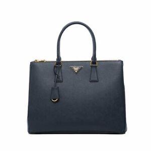 efbef06212cc Prada 1BA786 NZV F0216 Large Saffiano Lux Women's Tote Bag Baltico ...