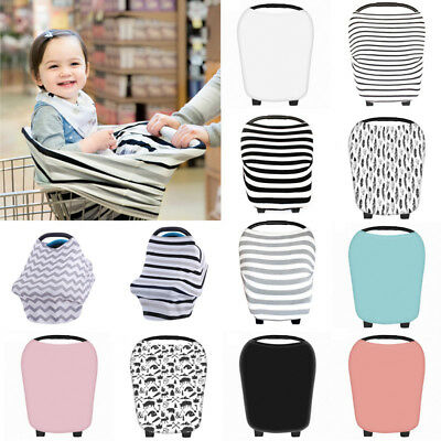 Safe Multi-Use Infant Newborn Baby Car Seat Cover Stretchy Canopy Cart Cover