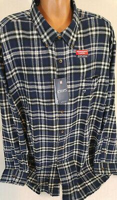 Size LT,NWT Men/'s Chaps Performance Flannel Long-Sleeve Plaid Button-Down Shirt