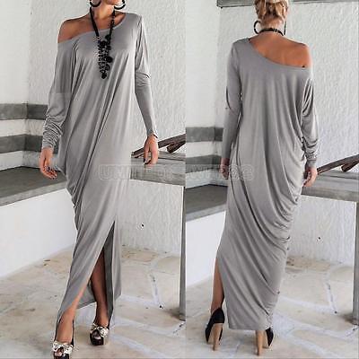 Women Plus Size Long Sleeve Boho Maxi Dresses Loose Casual Party Long Dress Hot