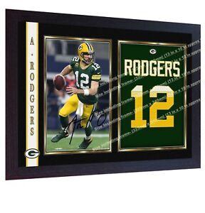 Aaron-Rodgers-Green-Bay-Packers-NFL-photo-print-signed-autograph-FRAMED