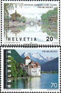 Schweiz-1667-1668-kompl-Ausg-postfrisch-1998-Freundschaft-mit-China