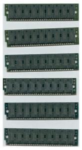 6x-1MB-30-Pin-9-Chip-Parity-70ns-amp-80ns-Mix-FPM-Memory-SIMMs-1Mx9