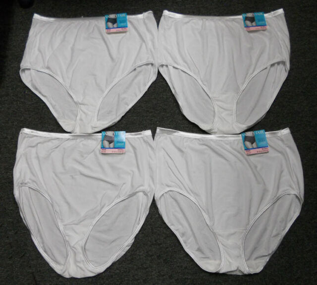 10 4 pairs VANITY FAIR Brief ILLUMINATION 13109 Panty STAR WHITE Size 3XL