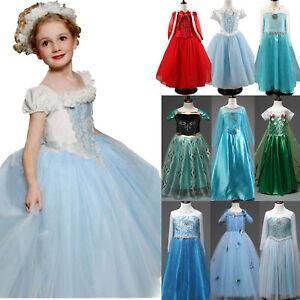 Caricamento dell immagine in corso Le-Ragazze-Fancy-Dress-Up -for-Frozen-Principessa- 7c7978c7f610