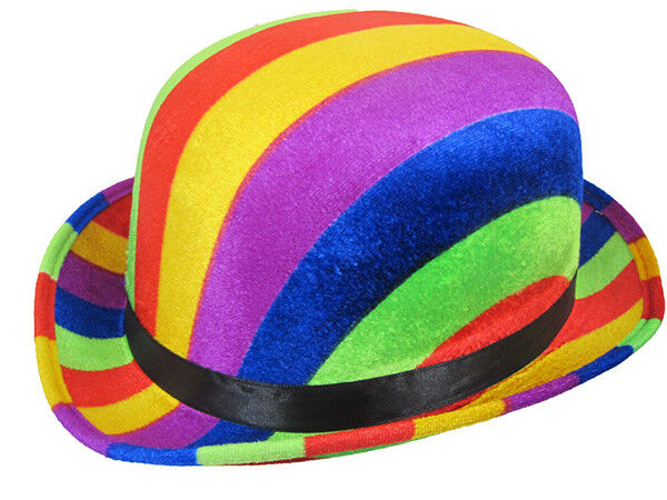 Bowler Hat Rainbow Colours Clown Fancy Dress 61cm for sale online  adfc13e96e6