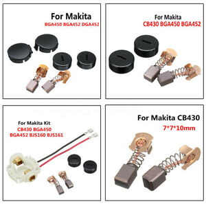 Carbon Brushes Caps+Cap Covers Kit For MAKITA CB430 BGA450 Brush Holder