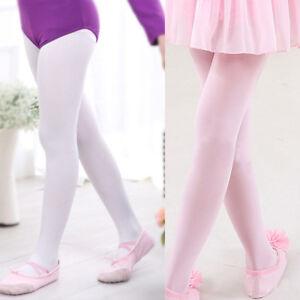 4ee74b4eb Kids Girls Gymnastics Ballet Dance Leotard Tights Pantyhose Long ...