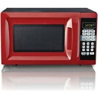 Hamilton Beach 0.7-cu Ft Digital Countertop Microwave Oven, Red, No Sales Tax