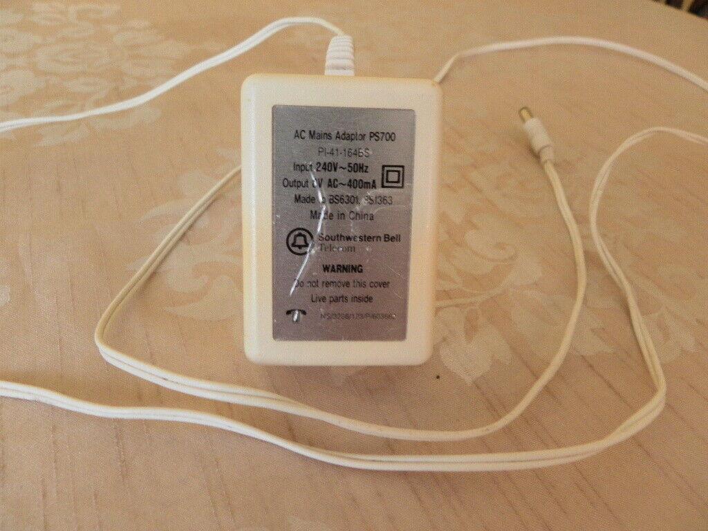 Vintage Southwestern Bell AC Mains Adaptor plug input 230V 50hz output 6v
