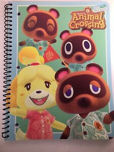 Animal Crossing New Horizons Spiral Bound Notebook 70 Pages Tom Nook Isabelle