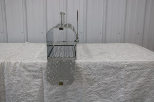 Heavy Duty Aluminum Diamond Plate 16 Gauge Mailbox Double Door With Nameplate