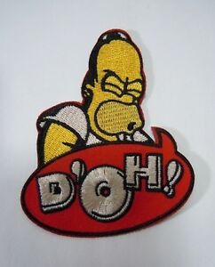 """w//Homer Simpson /""""It/'s Duff Time/""""-DUFF BEER 3/"""" NEW Embroidered Iron-On Patch"""