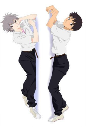 EVA Anime Dakimakura Nagisa Kaworu Ikari Shinji Hugging Body Pillow Case Cover