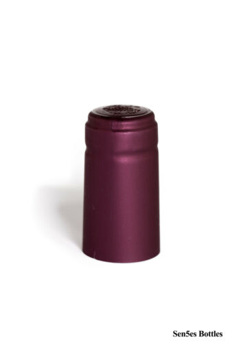 100 X Borgoña Calor Shrink cápsulas para botellas de vidrio