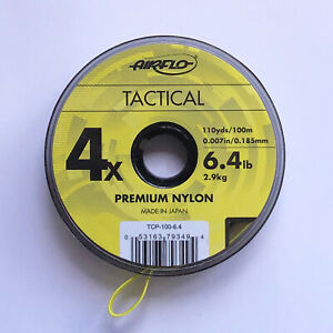 Airflo-Tippet-Leader-Tactical-Fly-Fishing-CoPolymer-100m-Spools-Various-Sizes