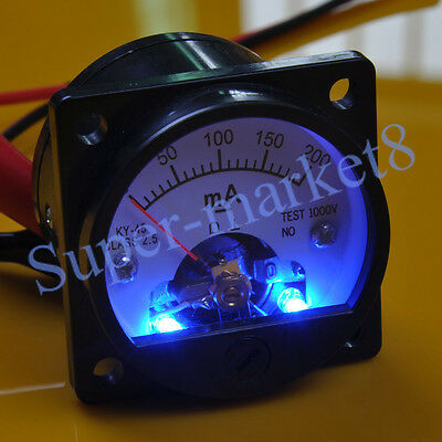 200mA DC Panel Meter With Blue Back Light fr 300B 211 845 6550 Tube Amplifier